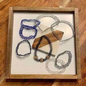 3/$15 Bundle! Tattoo Choker Elastic Necklaces